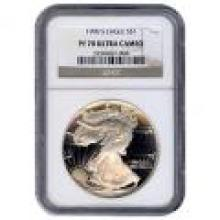 Certified Proof Silver Eagle 1990 PF70 NGC