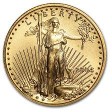 2004 1/10 oz Gold American Eagle BU