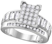 10k White Gold Natural Diamond Cindy's Dream Cinderella Bridal Wedding Engagement Ring 2 Cttw Size 7