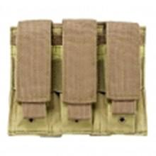 Vism By Ncstar Triple Pistol Mag Pouch/Tan