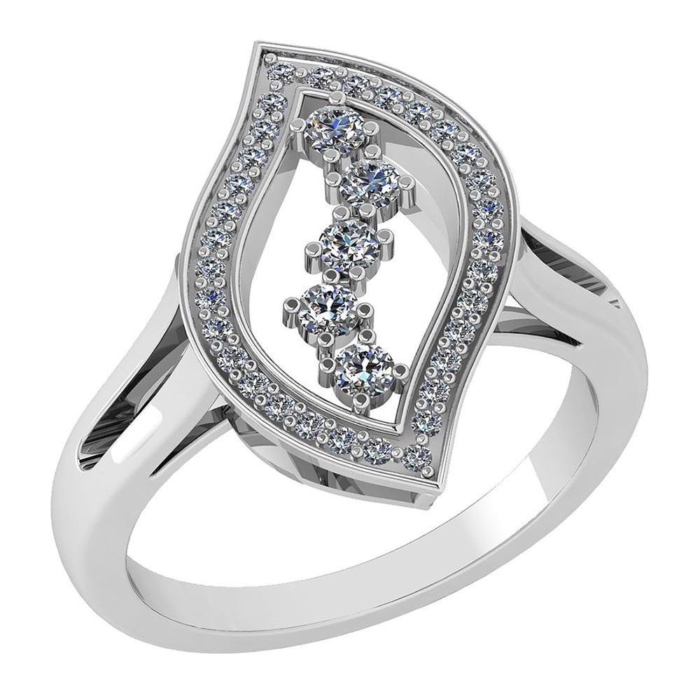 Certified 0.92 Ctw Diamond VS/SI1 Ring Bands 18K White Gold