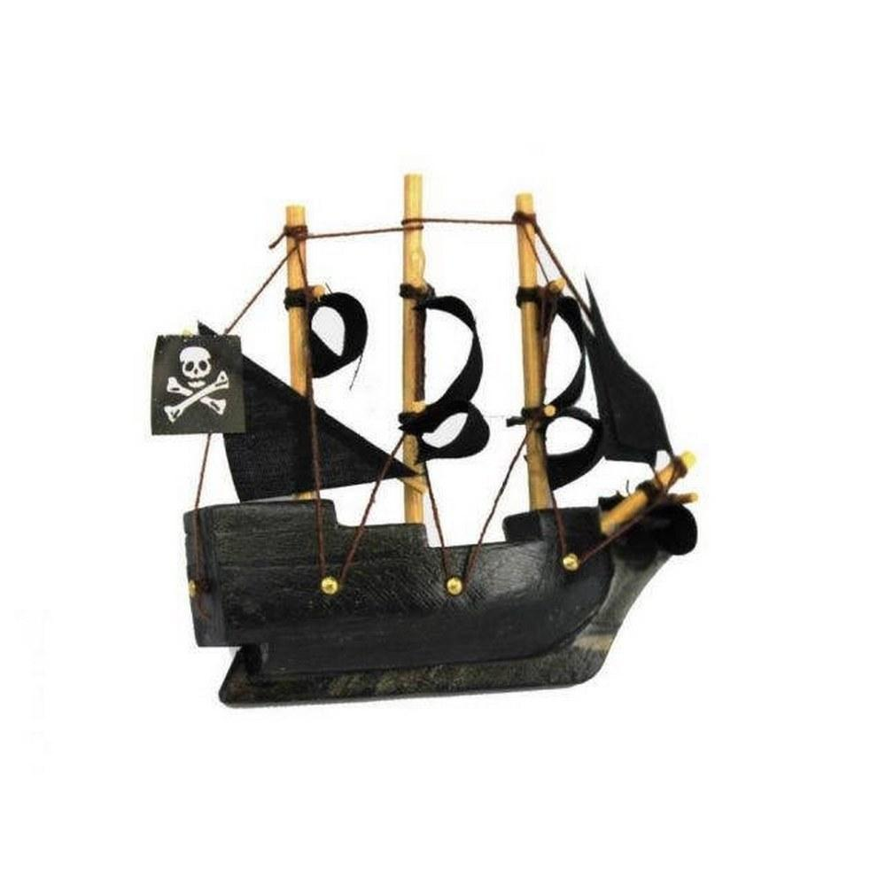 Black Pearl Pirates of the Caribbean Pirate Ship Model Magnet 4in.