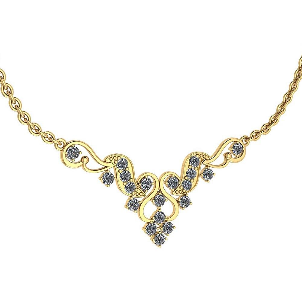 Certified 1.31 Ctw Diamond VS/SI1 Necklace 18K Yellow Gold