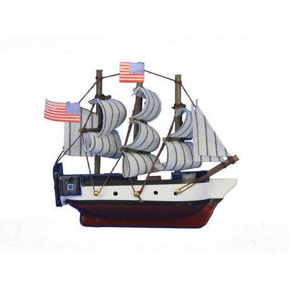 Wooden USS Constitution Tall Model Ship Magnet 4in.