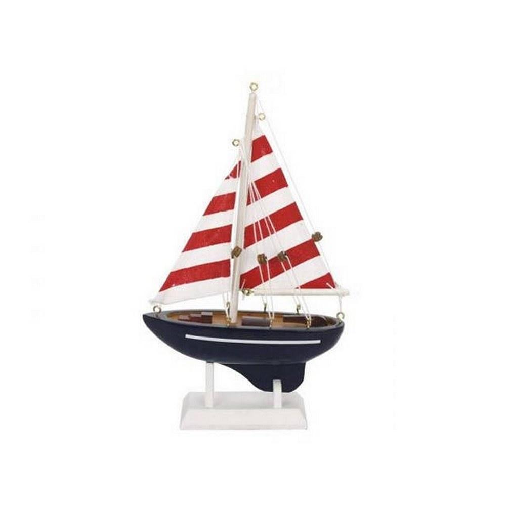 Wooden Nautical Delight Model Sailboat 9in.