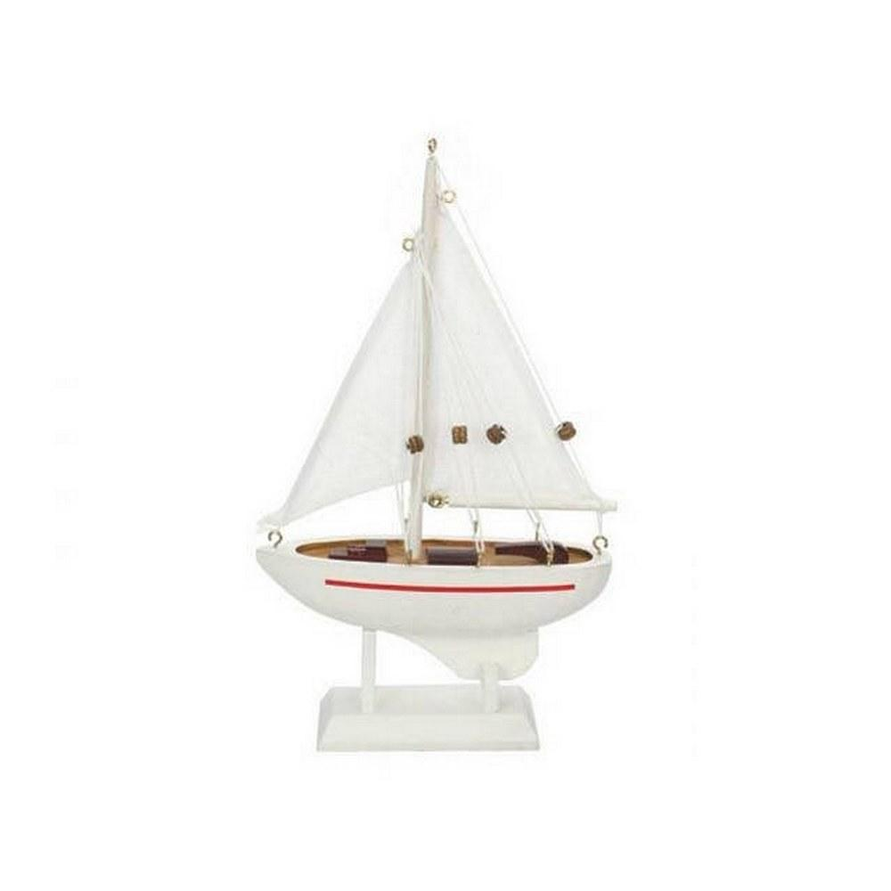 Wooden Intrepid Model Sailboat 9in.