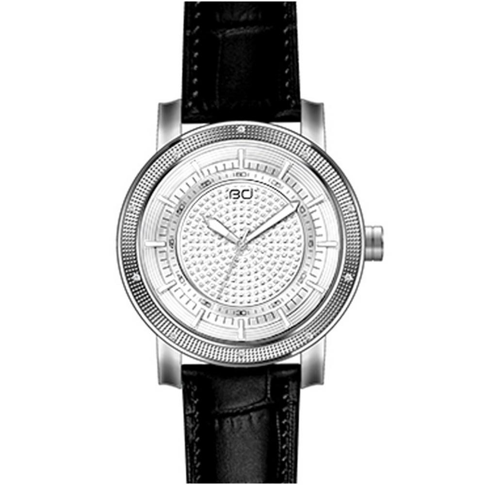 Diamond Watch Plated White Gold