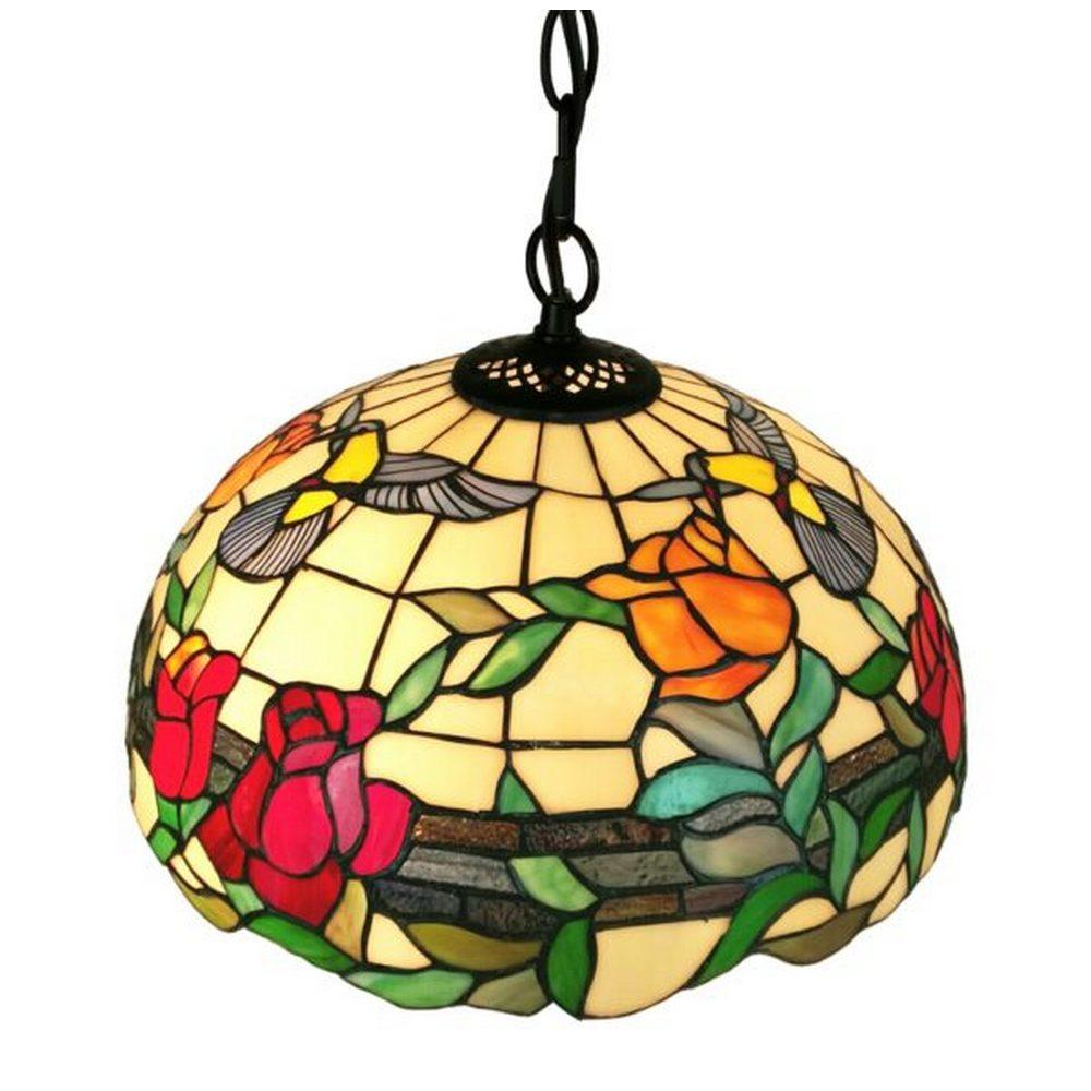 TIFFANY STYLE AM227HL16 FLORAL HANGING PENDANT LAMP 2 LIGHT
