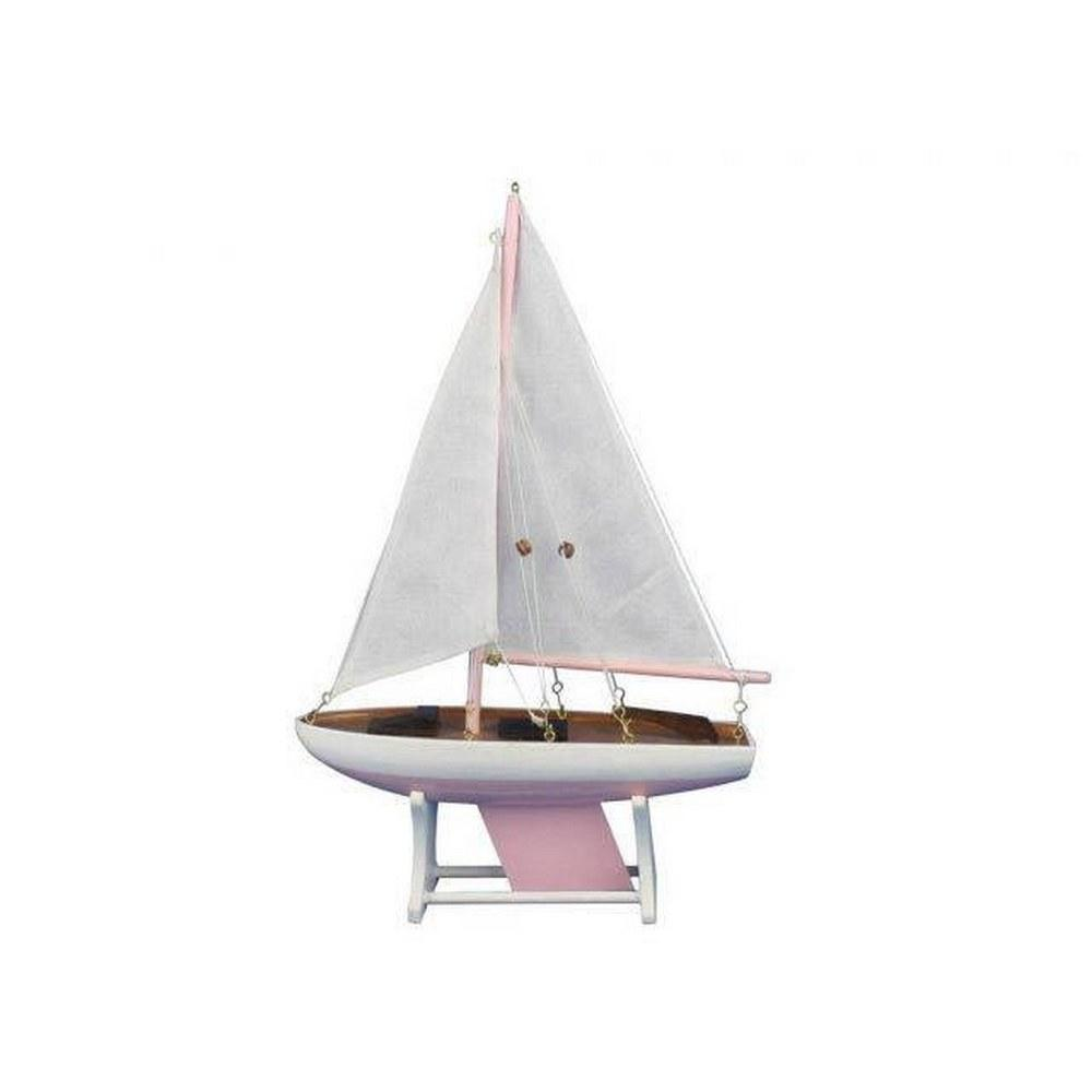 Wooden It Floats 12in. - Pink Floating Sailboat Model