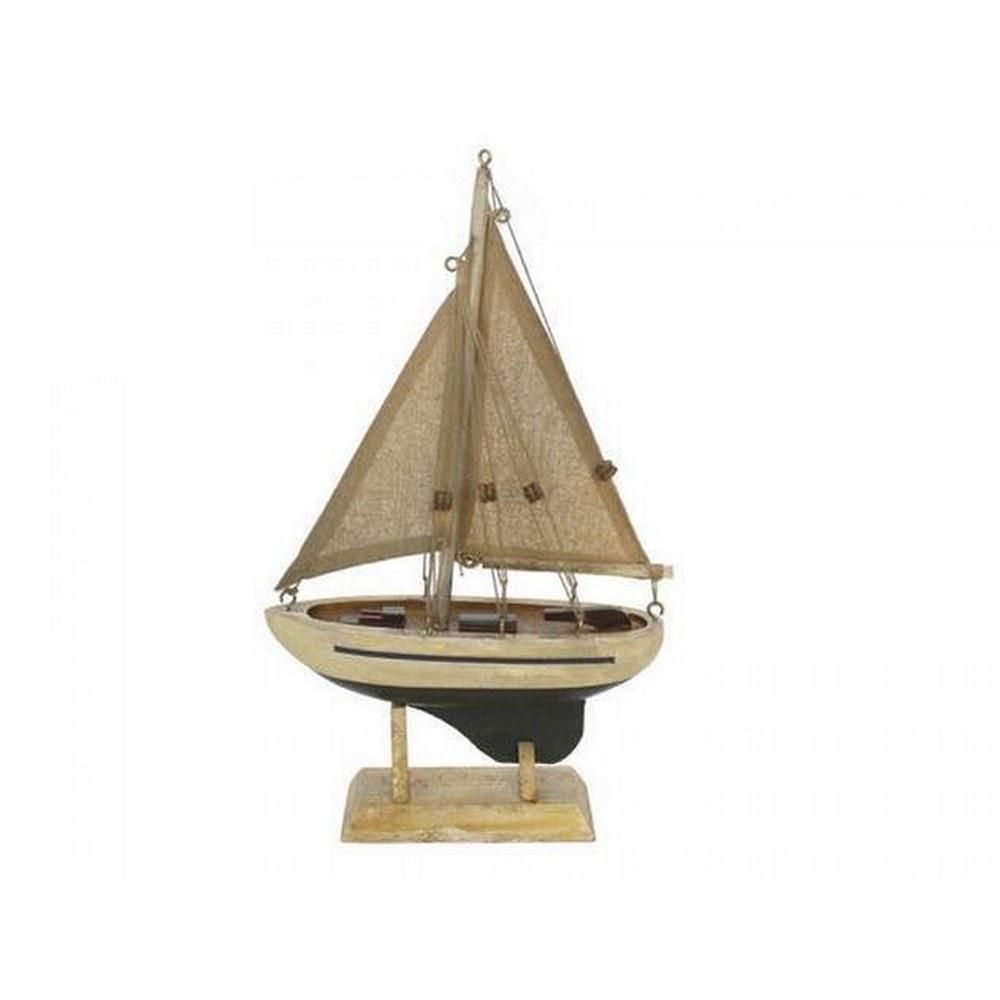 Wooden By The Sea Model Sailboat 9in.