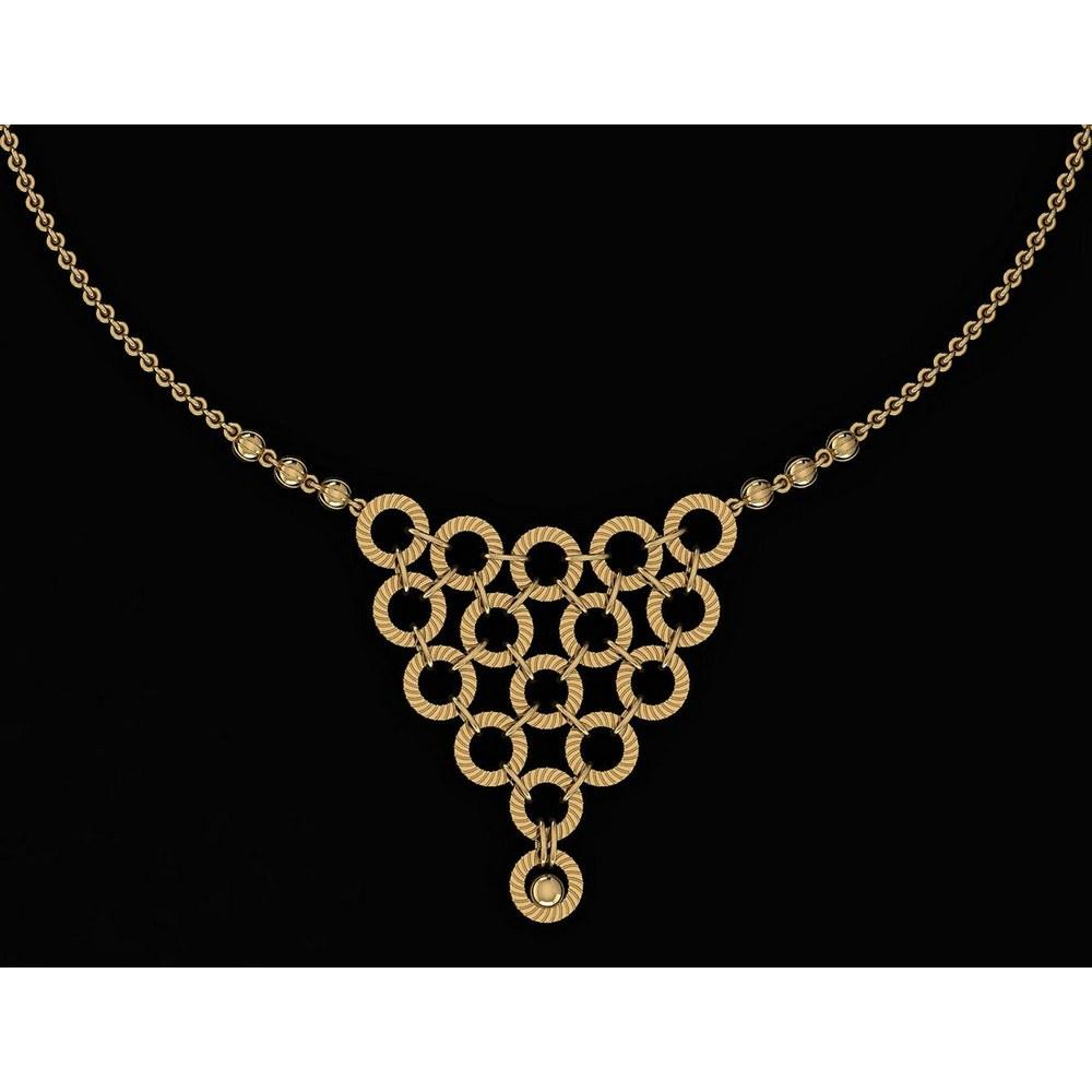 Beautiful 18K Yellow Gold Light Weight Necklace