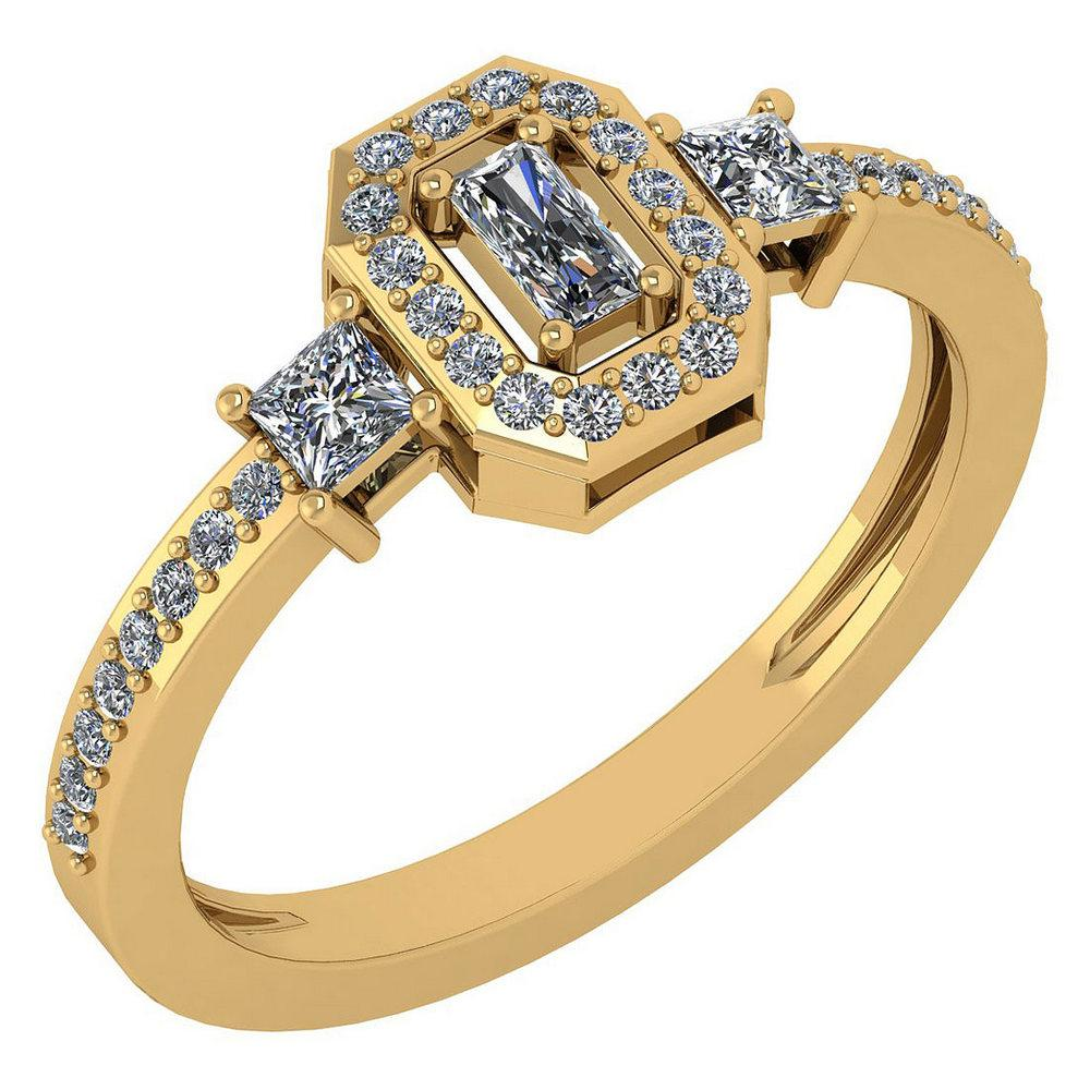 Certified 0.55 Ctw Diamond 14k Yellow Gold Ring (VS/SI1)