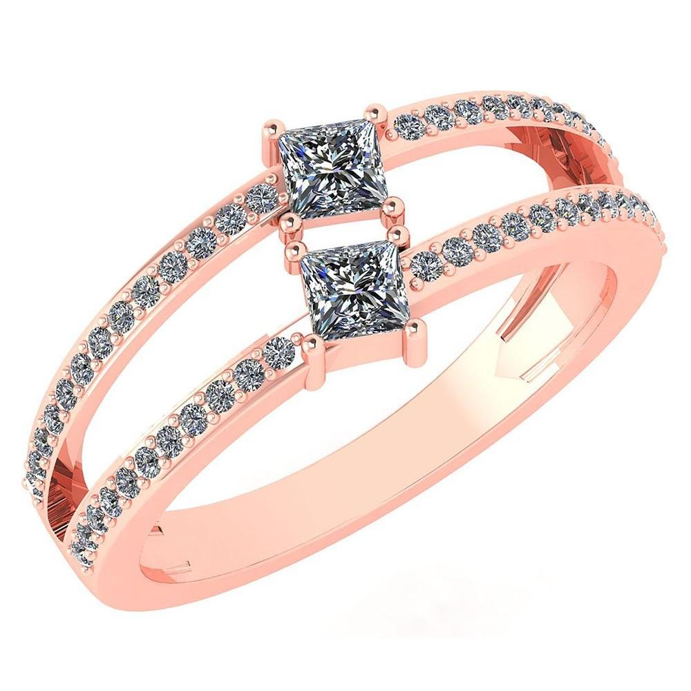 Certified 0.60 Ctw Diamond 14k Rose Gold Ring VS/SI1