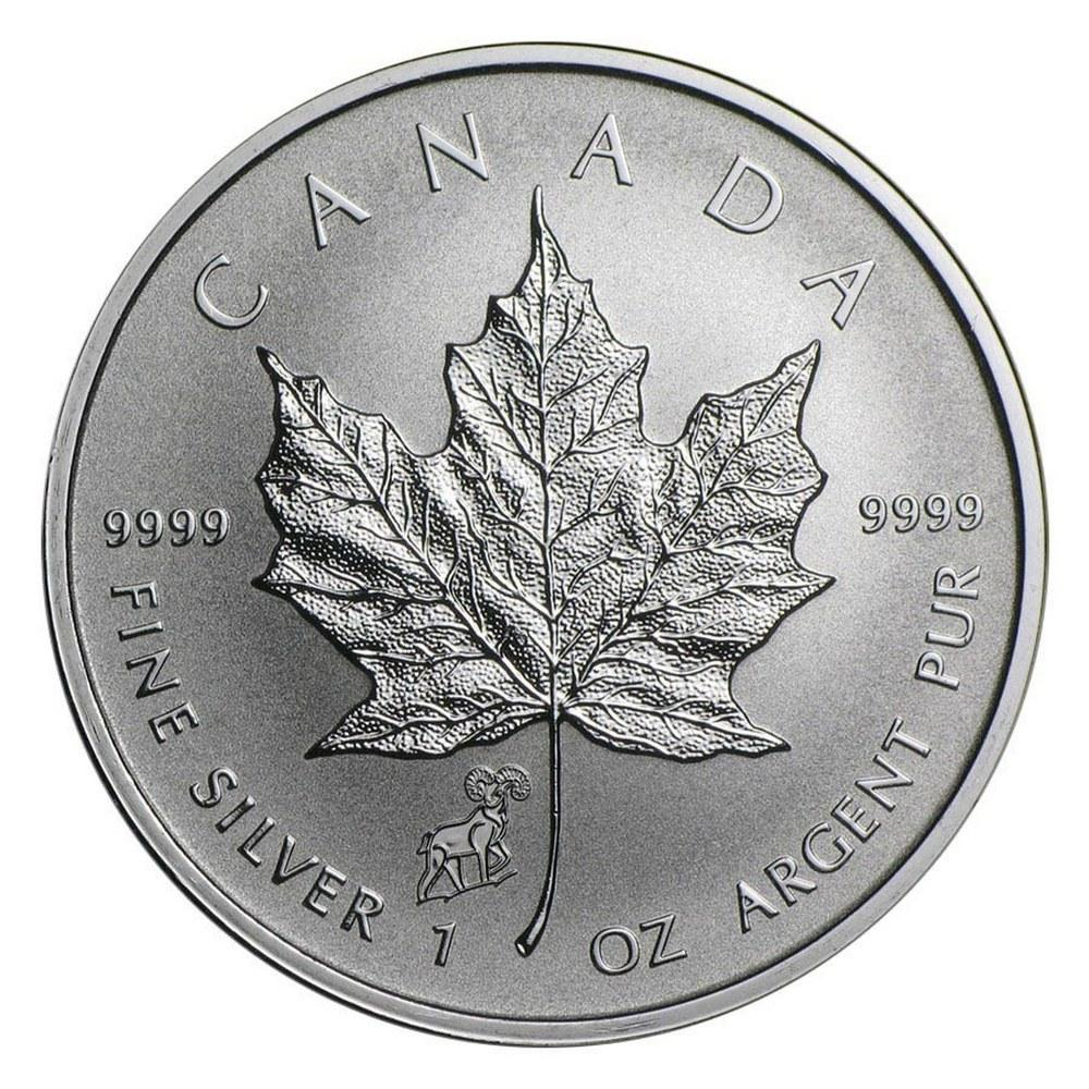 2015 Canada 1 oz. Silver Maple Leaf Reverse Proof Goat Privy Mark