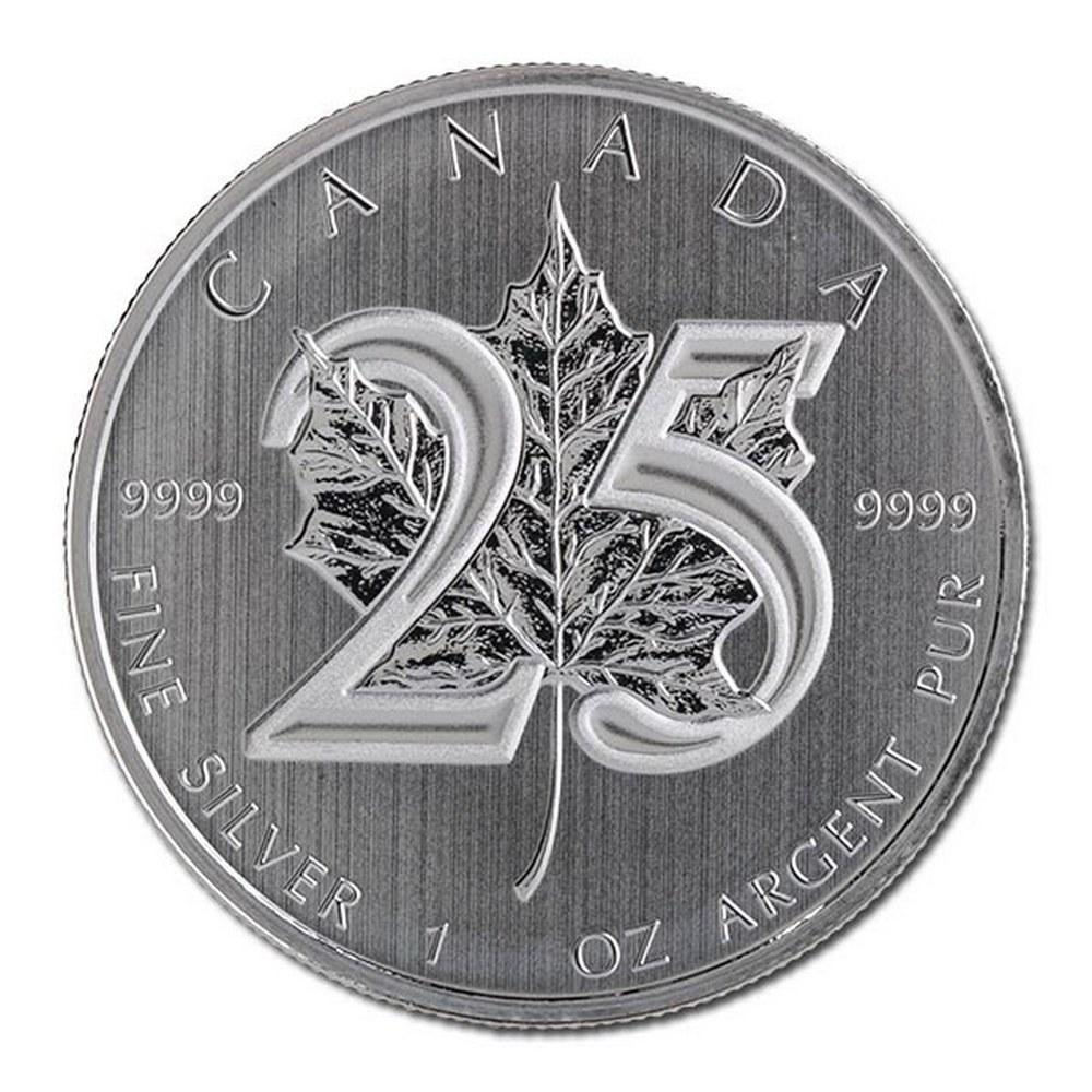 2013 Silver Maple Leaf 1 oz Uncirculated - 25th Anniversary
