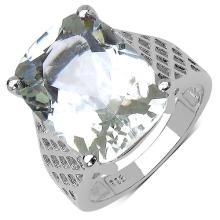 9.05 Carat Genuine Amethyst .925 Streling Silver Ring