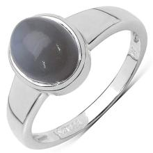 2.20 Carat Genuine Moonstone .925 Sterling Silver Ring