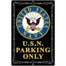 U.S.N. PARKING METAL SIGN