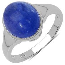 3.10 Carat Genuine Tanzanite .925 Streling Silver Ring