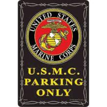 U.S.M.C. PARKING METAL SIGN