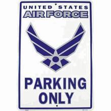U.S. AIR FORCE PARKING METAL SIGN