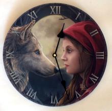 Lisa Parker's Moon Struck Clock   11 1/2 inch diameter