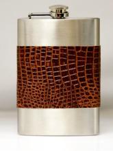Visol Handcrafted Leather 8oz Liquor Flask
