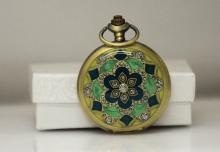 BRONZE MYSTIC FLOWER POCKET WATCH