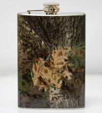 SILVER COLORED WODD STYLE FOREST FLASK