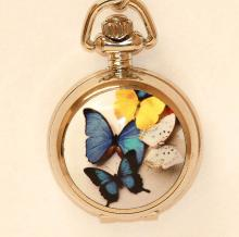 BUTERFLY DESIGN WATCH NECKLACE