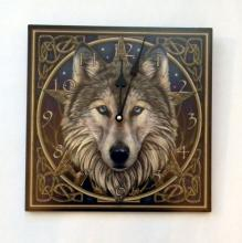 Lisa Parker's Wolf Wall Clock  11 1/2