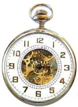 OPEN FACE MECHANICAL POCKET WATCH