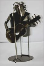 COLLECTORS EDITION METAL GUITARIST SINGER WINE HOLDER