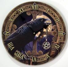 Lisa Parker Raven Clock  11 1/2