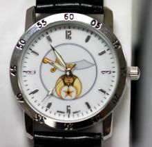 MASONIC SYMBOL WATCH W/LEATHER STRAP