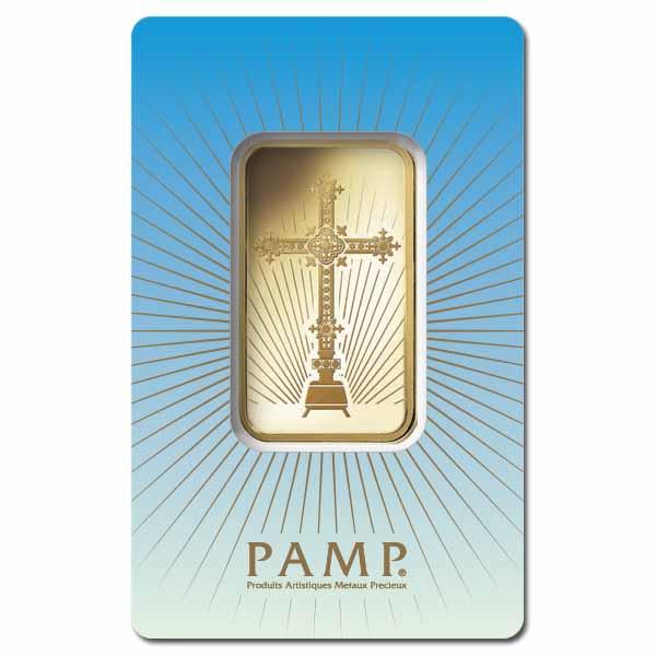 PAMP Suisse 1 Ounce Gold Bar - Romanesque Cross