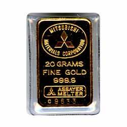 20 Gram Gold Bar - Random Manufacturer