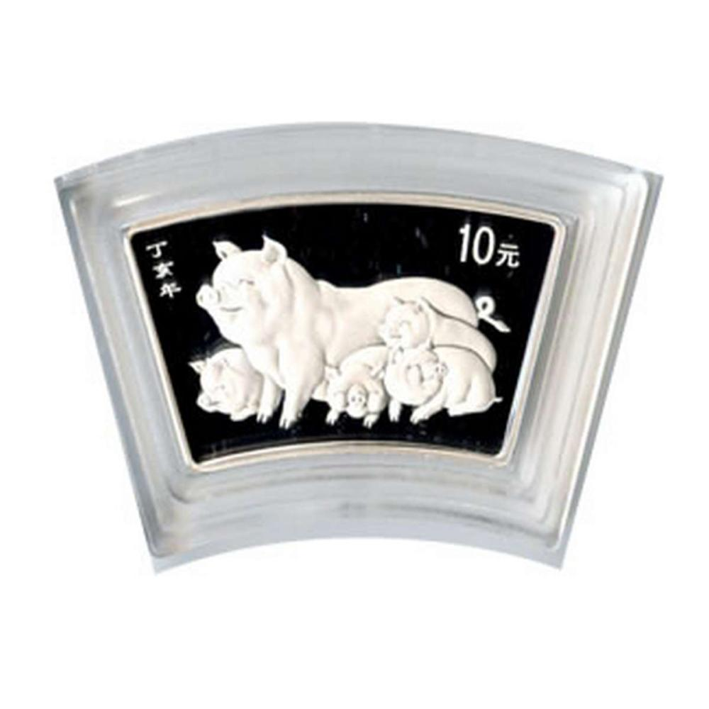 Chinese Silver Fan 1 Ounce 2007 Pig
