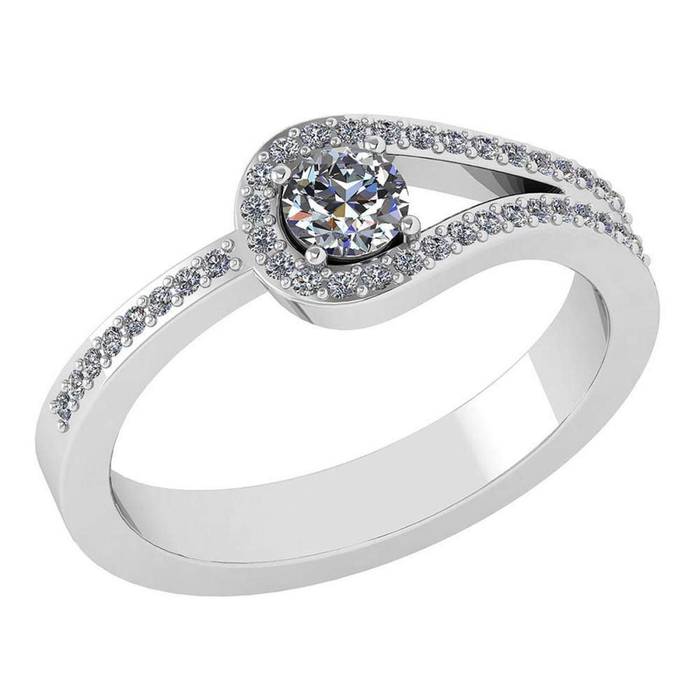 1.30 Ctw Diamond 14k White Gold Halo Ring