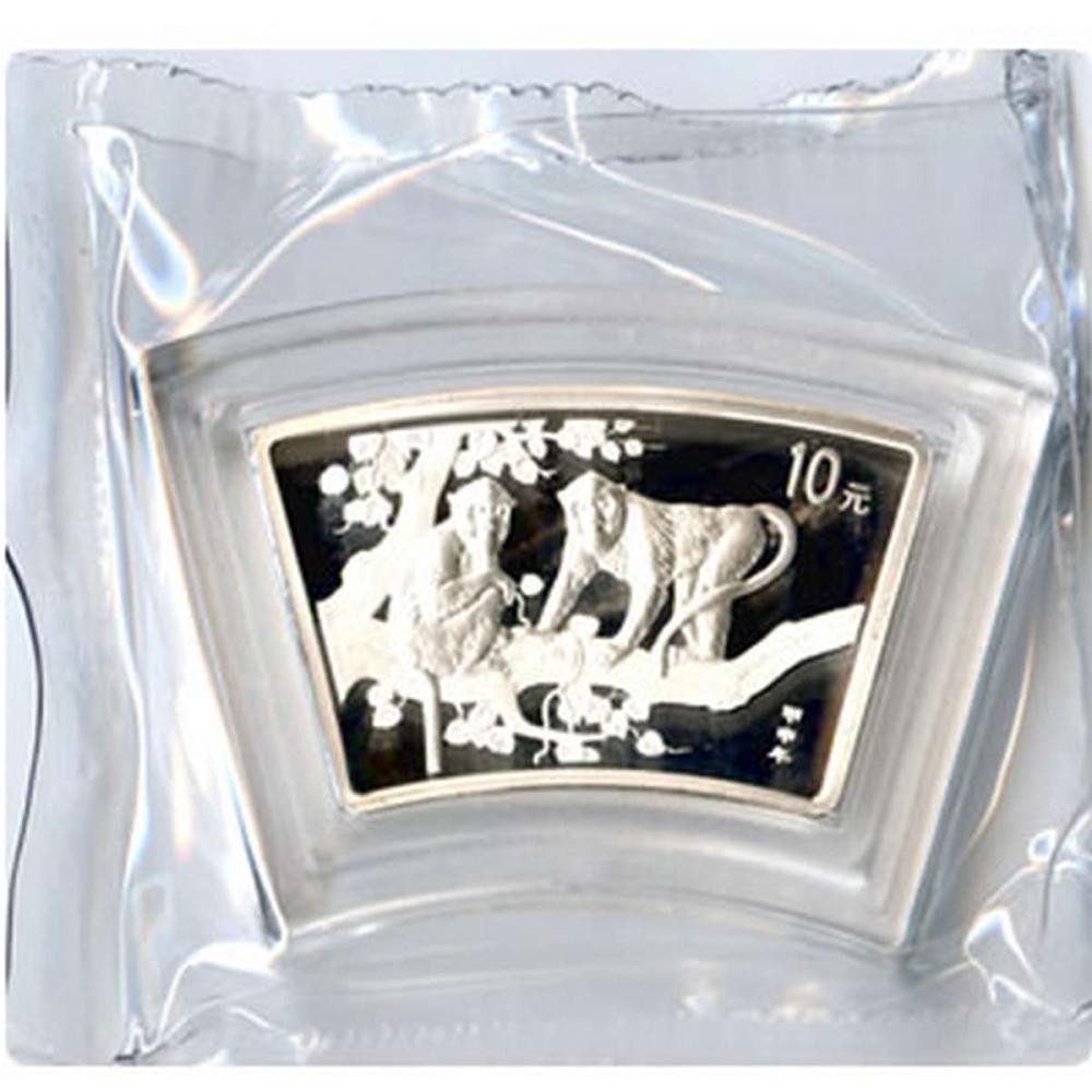Chinese Silver Fan 1 Ounce 2004 Monkey