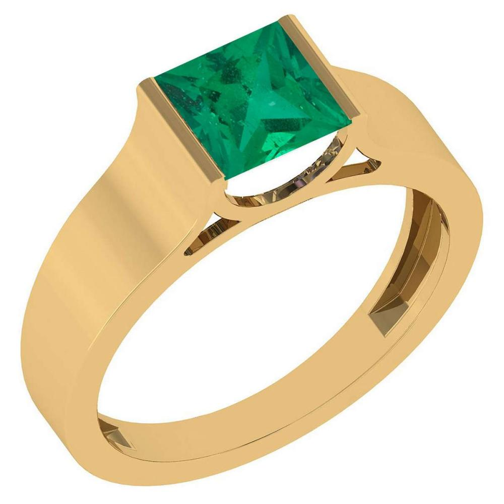 Certified 0.75 Ctw Emerlad 18k Yellow Gold Ring