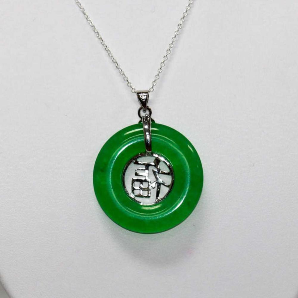 Natural Chinese Design Green Jade Pendant
