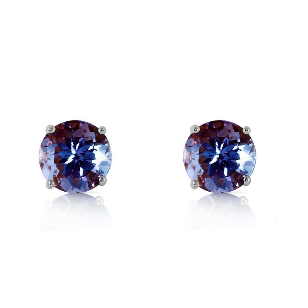 Lot 1010: 0.95 CTW 14K Solid White Gold Own Standard Tanzanite Earrings