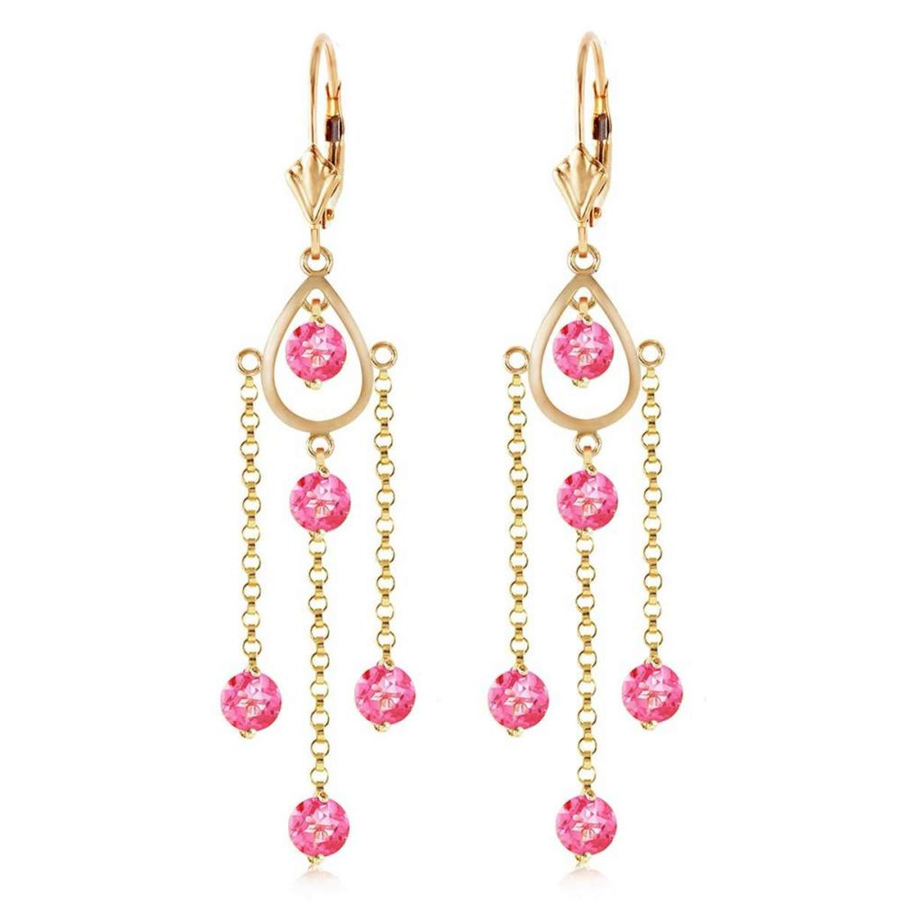 Lot 1037: 3 CTW 14K Solid Gold Gilded Age Pink Topaz Earrings