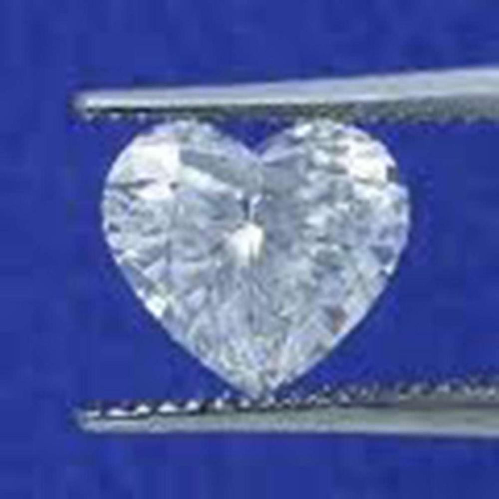 Lot 1049: EGL CERT 1.0 CTW HEART DIAMOND D/S12
