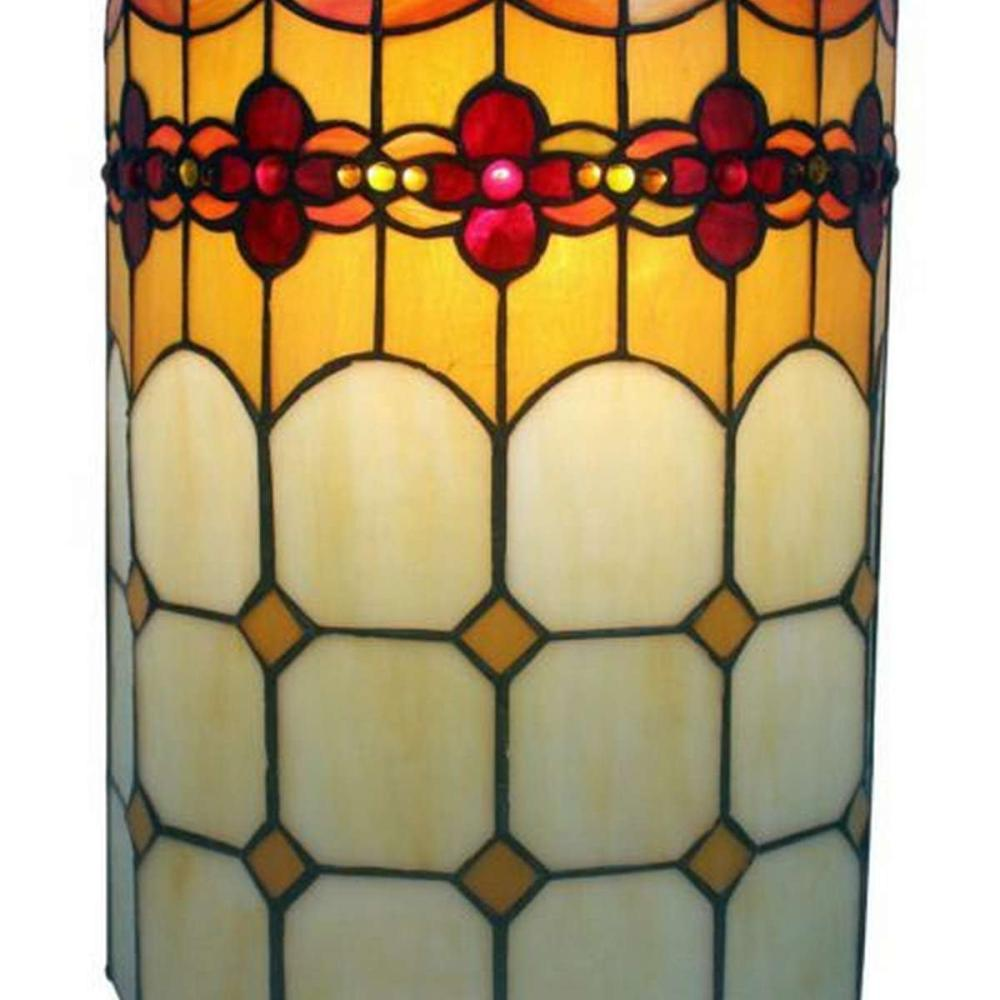LIGHTING TIFFANY STYLE 2-LIGHT GEOMETRIC WALL SCONCE