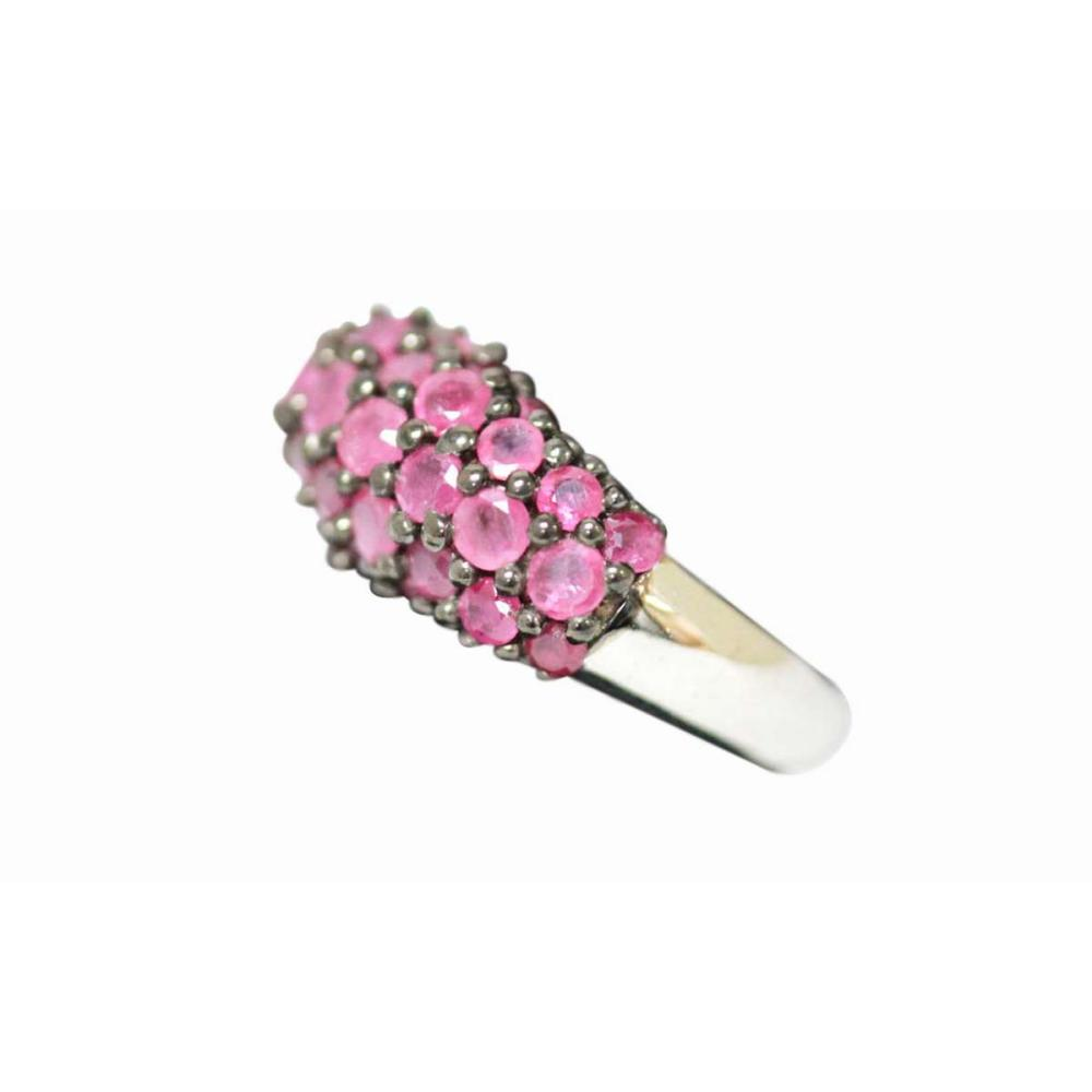 .925 STERLING SILVER 0.79 CTW RUBY RING