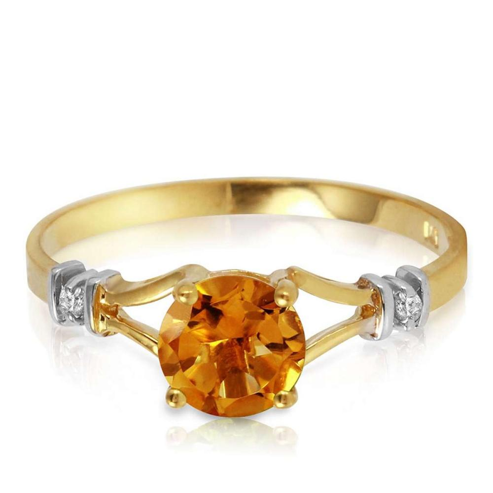1.02 CTW 14K Solid Gold Tremendously Lovely Citrine Diamond Ring