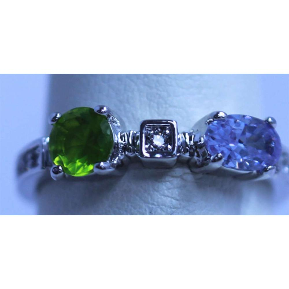 GREEN LAVANDER AND CZ RING