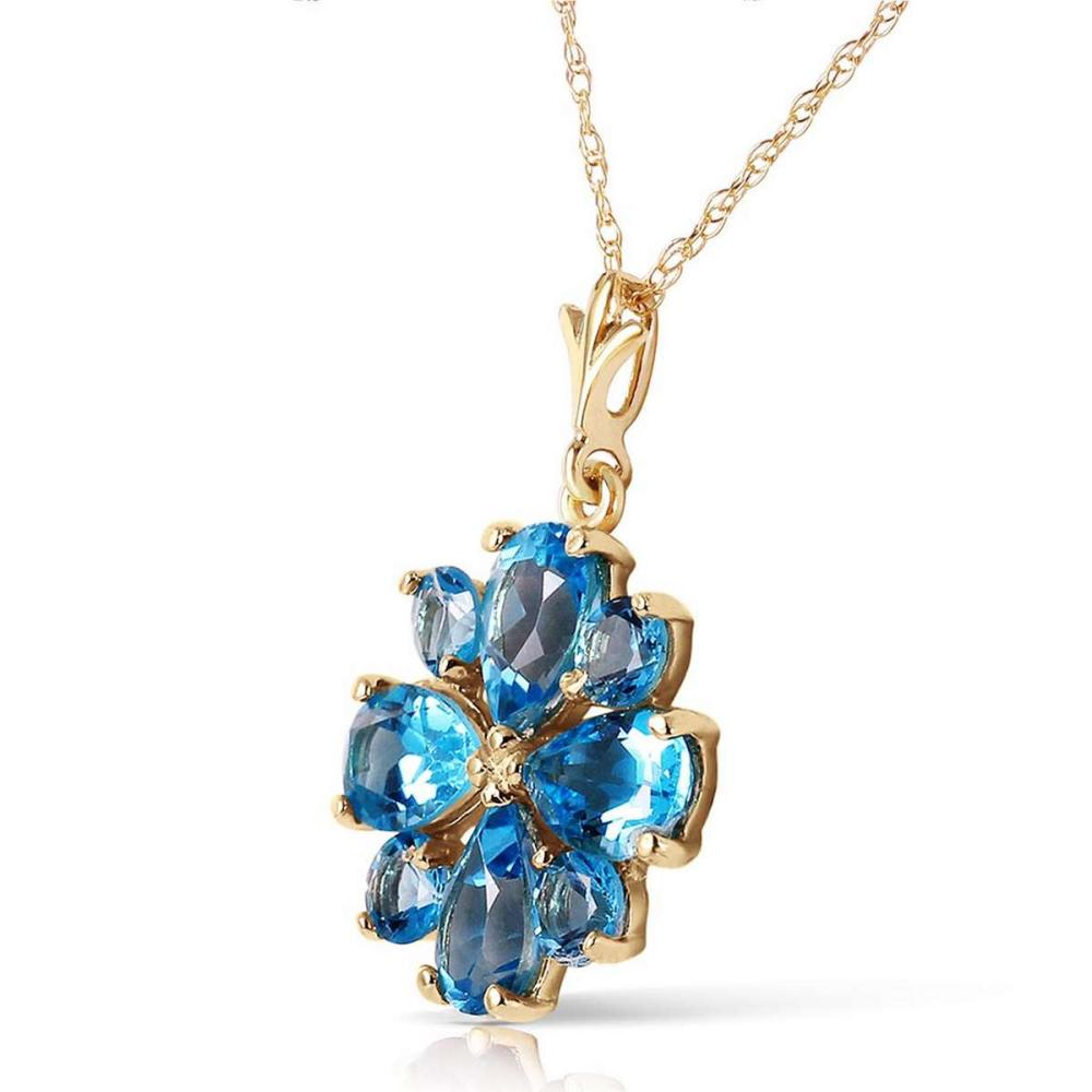 Lot 1114: 2.43 Carat 14K Solid Gold Beauvoire Blue Topaz Necklace